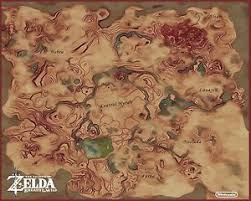 legend of zelda world map poster zelda breath of the wild map wall poster 30in x 24in beautiful