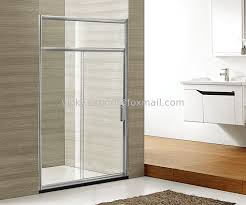 over hight shower screen glass sliding shower cabin with stone