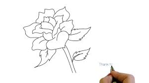 simple rose flower drawing how to draw youtube