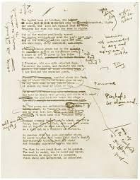 thomas stearns eliot 1922 original manuscript for wasteland
