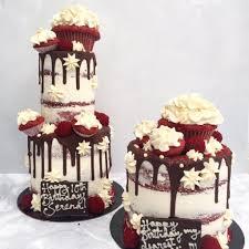 lady red velvet birthday cake in teddington u2013 anges de sucre