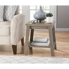 rustic oak coffee table amazon com logan side table color rustic oak garden outdoor