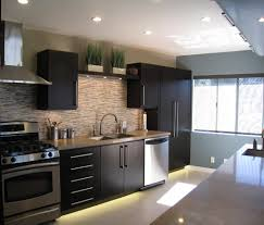 dark kitchen cabinets with light floors cool dark kitchen