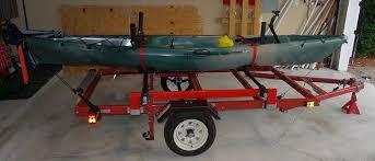 harbor freight light bar harbor freight folding trailer for hauling kayaks canoes kayak
