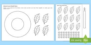 advent crown wreath template activity key stage one