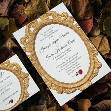 beauty and the beast wedding invitations beauty and the beast wedding invites meichu2017 me