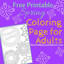 coloring page free printable serendipity and spice
