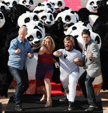crazy kung fu panda promotional stunt pics cannes cast 4