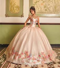 pink embroidered wedding dress floral embroidered quinceanera dress by ragazza fashion v85 385
