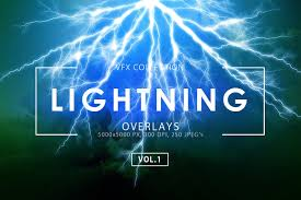 Discount Electrical Thunderbolt Theme Lightning Effect Overlays Vol 1 Textures Creative Market
