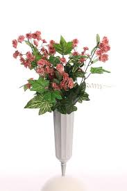 cemetery vase plastic fluted cemetery vase floral design accessories