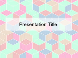 pastel cube 3d powerpoint template