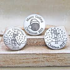 personalised 2013 christmas golf ball markers indivijewels