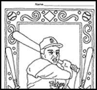 Jackie Robinson Coloring Pages For Kids Timeless Miracle Com Jackie Robinson Coloring Page