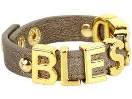 blessed bracelet bcbgeneration blessed affirmation bracelet in metallic lyst