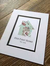 housewarming gifts for first home our first home personalized home map matted gift by handmadehq