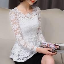 white lace blouses summer blusas peplum top 2017 black white lace blouse