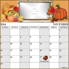 images thanksgiving calendar 2014