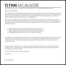client service associate cover letter sample livecareer