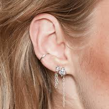 conch piercing cuff stacking earrings how to wear earrings in piercings