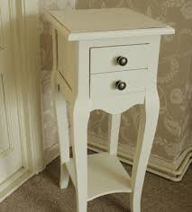 small bedside table ideas narrow bedside tables with drawers small cream 2 drawer regard to
