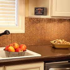 copper kitchen backsplash penny tile kitchen backsplash kitchen room marvelous hammered