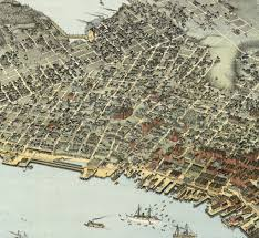 Seattle Street Map by Seattle Antique Map 1891 After The Great Fire