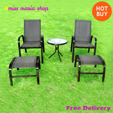Outdoor Waterproof Furniture by Garden Patio Set 5 Pc Furniture Waterproof Glass Table Chairs