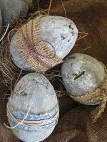 primitive easter eggs here is a great diy on how to make primitive eggs from the
