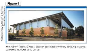 using carbon cured concrete block construction canada
