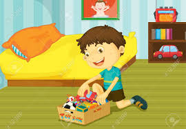 illustration of helping at home concept royalty free cliparts