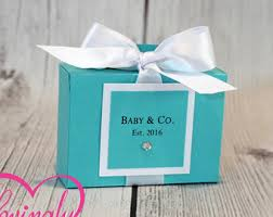 baby company baby shower favors in aqua and white baby