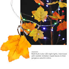 colth maple leaves fairy light mixed color orange yellow leaf