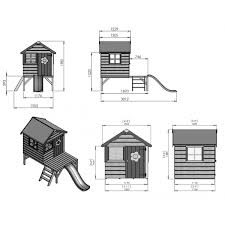 House With Tower Wooden Playhouse With Slide And Tower Mercia 4 X 4