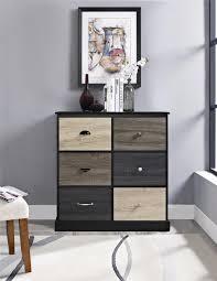 Storage Furniture Ameriwood Furniture Mercer 6 Door Storage Cabinet With