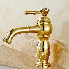 Single Handle Bathroom Sink Faucet luxury golden rotatable brass bathroom sink faucet single handle