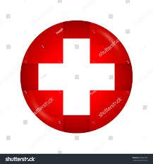 White Cross On Red Flag White Cross Medical Symbol Switzerland Flagvector Stock Vector