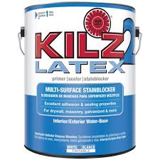 kilz 2 1 gal white water based latex interior exterior multi