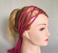 hippie hair bands cotton womens headband crochet scarf boho headwrap