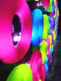 neon flagging on hulla hoop glow decoration fnid more