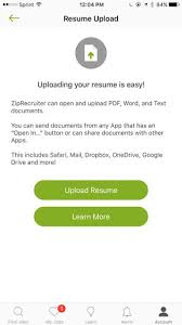 Google Drive Resume Upload How Do I Upload A Resume To The Ziprecruiter Mobile App