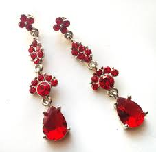 Red Chandelier Earrings Earring For Red Dress Beautify Themselves With Earrings
