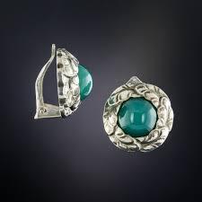 ch earrings georg sterling silver chalcedony earrings