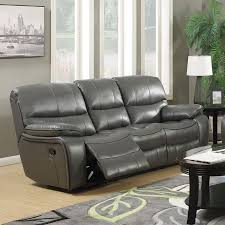 Contemporary Reclining Sofa With Topstitch by Chisholm Brown Reclining Sofa