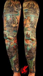 navy ship sleeve tattoo by jackie rabbit by jackierabbit12 on