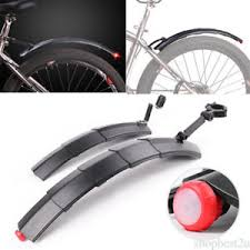 bicycle rear fender light cycling mountain front mudguard rear fender mud guard tail light