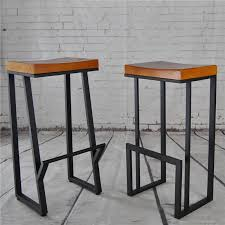 retro nostalgia wrought iron barstool american wood bar stool bar