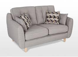 King Koil Sofa by 2 Seater Grey Fabric High Back Sofa Lazio