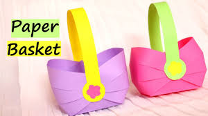 Paper Crafts - how to make a paper basket for easter 2017 easy paper crafts