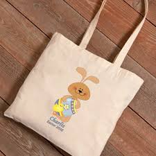 personalized easter bunnies easter bunnies canvas bag personalized and easter totes